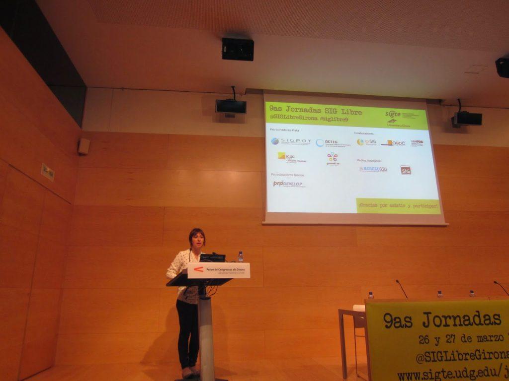 Gemma Boix, Directora del SIGTE, obrint les Jornades